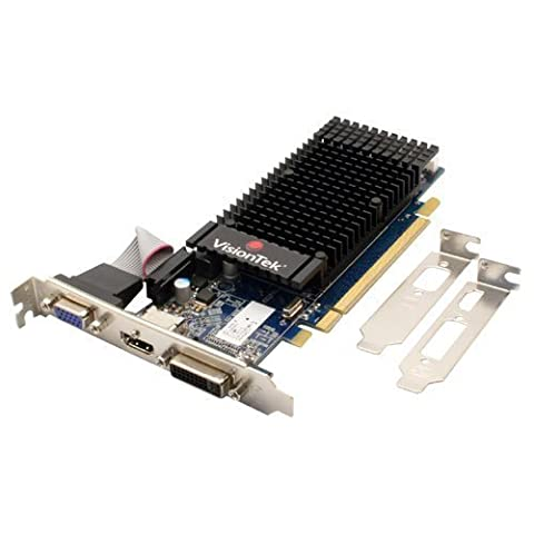 VisionTek Radeon 5450 SFF 1GB DDR3 (DVI-I, DP, VGA*) Graphics Card - 900320 (Radeon 1gb Ddr3)