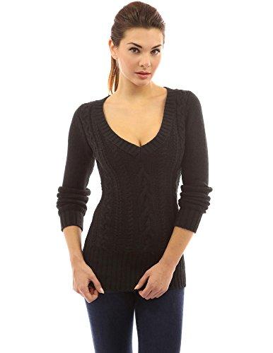Image result for deep v sweater black