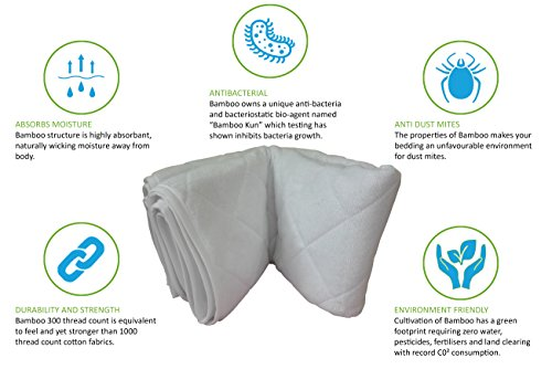 Incontinence Bed Pad Waterproof Mattress Sheet Protector Machine Washable (52'' X 34'') Highly Absorbent Bed Wetting Cover | Extra Soft Bamboo Sleeping Comfort | Kids and Adults by Seffer (Image #2)