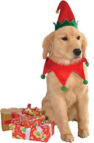 Rubies Christmas Pet Costume, Medium to Large, Elf Hat with Bell