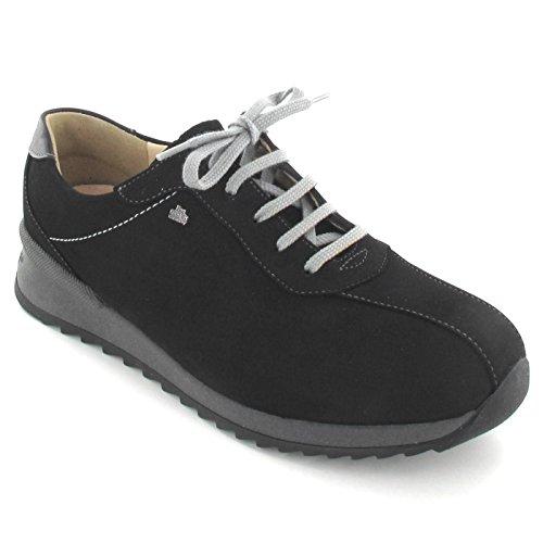 Finn Comfort - Zapatos de cordones de terciopelo para mujer negro negro 40 HcDIaYWtkb