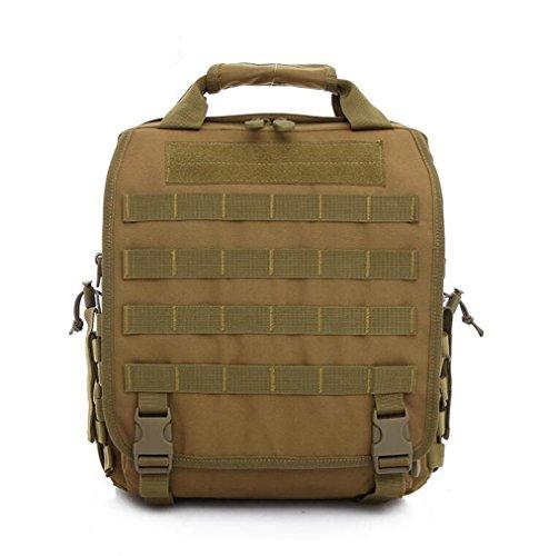 Wmshpeds Los hombres del ejército táctico Pack ilimitado de mujeres Bolso Bolso de Hombro de lona exterior digital multifuncional camuflaje Pack F