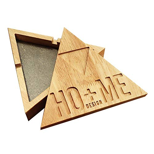 BAIF European Creative Decoration with a lid Ashtray Triangular Large Woody Fashion Personality Cigarette Cup