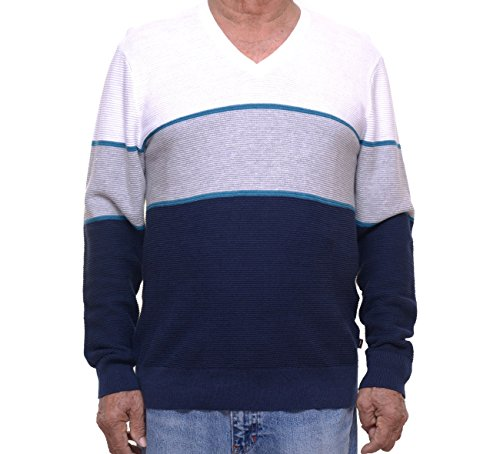 Michael Kors Mens Walden Linen Colorblock Pullover Sweater Blue - Shipping Kors Outlet Free Michael