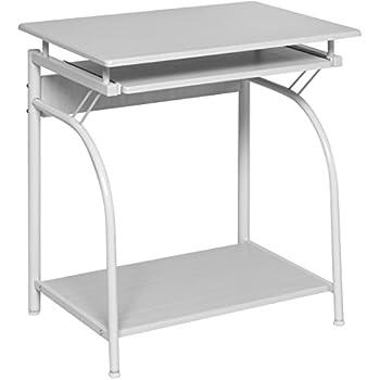 Amazon Com Onespace Ultramodern Glass Computer Desk With