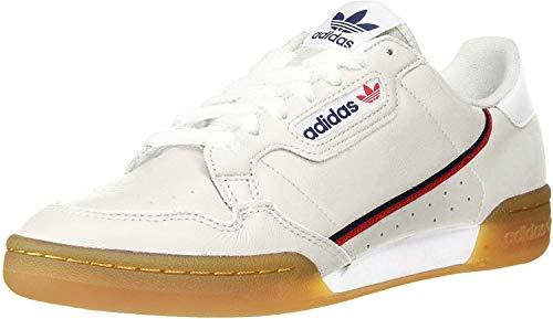 adidas Originals Men's Continental 80 Sneaker Crystal White/Collegiate Navy/Scarlet 9.5 M US (Official Footwear)