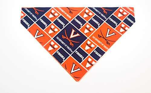 The University of Virginia Cavaliers Pet No-Tie Dog Bandana Slip On Over the Collar