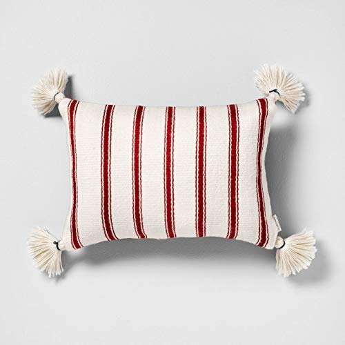 Hearth & Hand with Magnolia Outdoor Toss Pillow (Rectangular, Red)