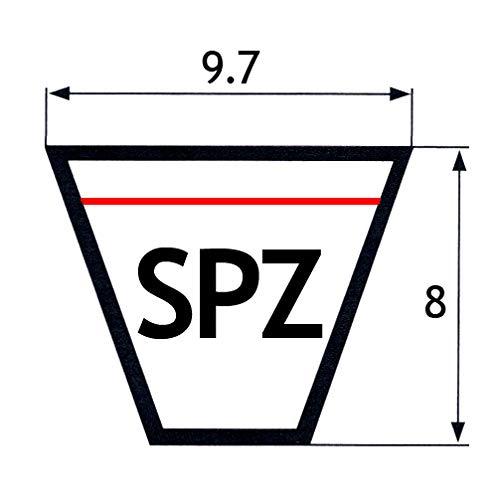 Correa trapezoidal SPZ1060 9.7x8x1060 mm OFT estrecho