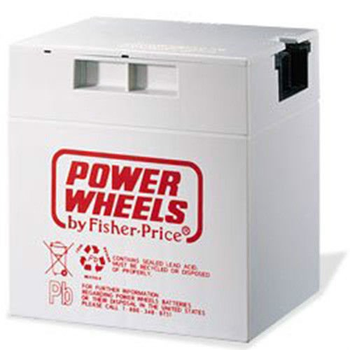 NEW 00801-0638 Battery 12 Volt Gray Genuine Power Wheels Fisher Price Grey 12V (Fisher Price Hot Wheels)