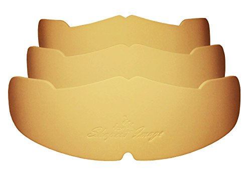 3Pk. Beige Manta Ray Baseball Caps Crown Inserts For Low Profile Caps| Hat Shaper| Hat Stretcher| Hat Crown Stiffener| Flex-fit Hat Support| Hat Padding| Hat Cleaning Aide| Cap Storage Aide| 100% MBG.
