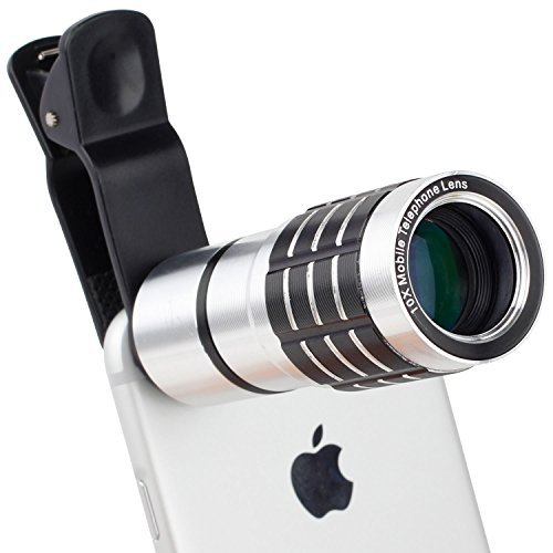 [Hamee Original](Original Retail Packaging) Universal Smart Clip 10 Times Zoomable Lens for Cell Phone with adjustable feature /Lens Clip Camera Photo Kit Smartphone Lens For iPhone 6/6 Plus,iPhone 5 5S 4 4S Samsung Galaxy HTC LG Camera lens for phones and all Smartphones.]()