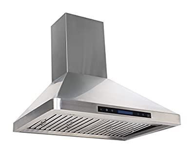 Cycene 36 Inch Professional Series Wall-Mounted Stainless Steel Range Hood w/ Baffle Filter @ 600CFM - CY-RH31PS-36