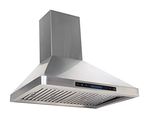 Series Ultra Quiet Fan Panels - Cycene 36 Inch Professional Series Wall-Mounted Stainless Steel Range Hood w/Baffle Filter @ 600CFM - CY-RH31PS-36