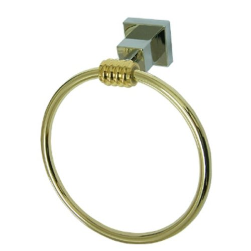 Kingston Brass BAH4644CPB Kingston Brass BAH4644CPB Fortress Towel Ring, Chrome & Polished Brass B0026ZPDCM Polished Chrome/Polished Brass Polished Chrome/Polished Brass