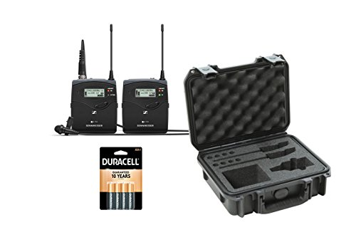Series Wireless Mic - Sennheiser ew 112P G4 Camera-Mount Wireless Microphone System Kit with SKB Case 3i0907-4-SWK, and batteries (4 pack)