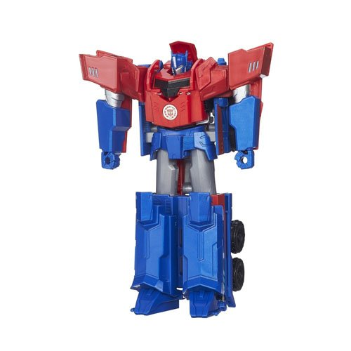 Hasbro Transformers B0899ES0 - Robots in disguise 3-Step Changer Optimus Prime, Actionfigur
