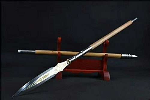 - Chinese Sword,Ray Spear(High Manganese Steel Spearhead,Hardwood Rod) Length 87