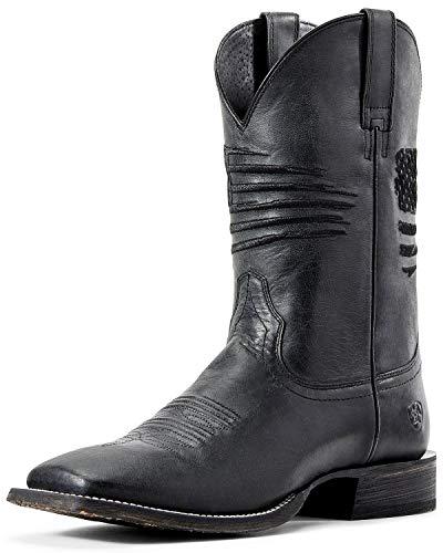 ARIAT Men's Circuit Patriot Western Boot Wide Square Toe Black 11 EE