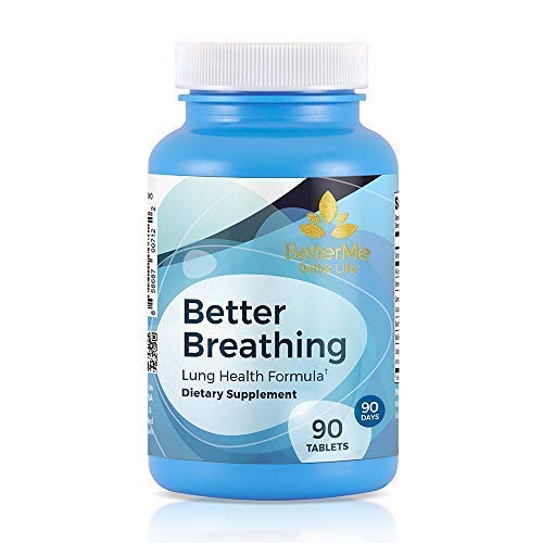 Better Breathing, Lung Health Supplements,300 mg N-Acetrl-L-Cysteine, 10 mg Vitamin B6, 250 mg Cordyceps, 50 mg Bromelain Complex, 25 mg Marshmallow Root Powder, 25 mg Mullein Leaf Powder, 90 Tablets