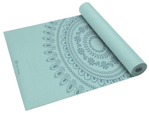 Gaiam Yoga Mat Premium Print Extra Thick Non Slip Exercise & Fitness Mat for All Types of Yoga, Pilates & Floor Exercises, Marrakesh, 5/6mm