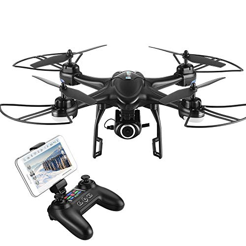 HOBBYTIGER H301S Ranger Drone with Camera Live Video and GPS Return Home 720P HD Wide-Angle WiFi Camera for Kids, Beginners and Adults - Follow Me, Altitude Hold, Long Control Range