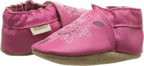 Robeez Girls' Elephant Eddie Crib Shoe, Fiona Flower-hot Pink, 18-24 Months M US Infant -