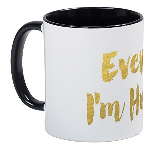 Gold Personalized Coffee (CafePress - Everyday I'm Hustling Mug - Unique Coffee Mug, Coffee Cup)