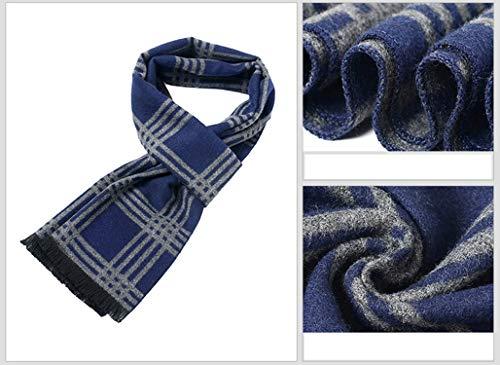 Scarf Men For Silk Autumn Rhombe Lattice Blue Winter 180cm Artificial Change Amdxd xBq48wtB