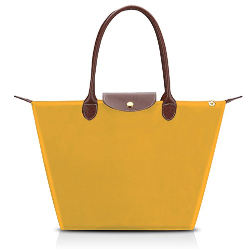 Bagerly Fashion Unisex Waterproof Shoulder Hand Bag Tote Bag (Yellow)