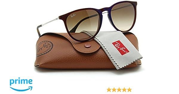 ad1187f79ed2 Amazon.com  Ray-Ban RB4171 ERIKA CLASSIC Womens Brown Gradient Sunglasses  631513
