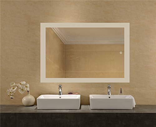 LEDMyplace LED Bathroom Lighted Mirror 24x36 Inch, Lighted Vanity Mirror Includes Defogger, Touch Switch Controls LED Light with On/Off and CCT Remembrance, ETL Listed, Alumimum Structure