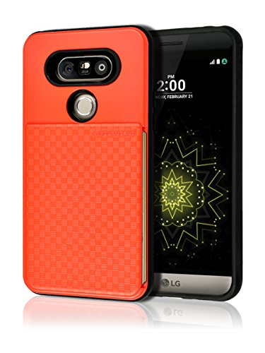 Tough Hybrid Dual Layer Case for LG G5 (Red) - 4