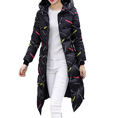Capuchon À Taille Xxl De Rembourrée Coton Hiver Long Veste Vêtements Chaud Angelof Slim Femme Manteau Noir Grande qEwn4a1xU5