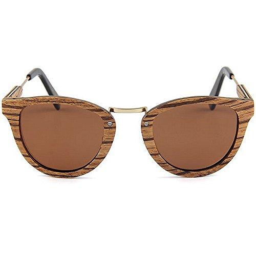 gafas de las de caballero de polarizadas protección ULTRAVIOLETA a mano sol conducen de calidad de sol la gafas a alta Gafas hechas sol de de gafas que Marrón mano Sunglasses Beach madera del hechas sol UBdwxWq0f