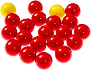 Hungry Hungry Hippos -Compatible Replacement Marbles - 21 Pieces (19 Red and 2 Yellow) - Perfect Replacement G