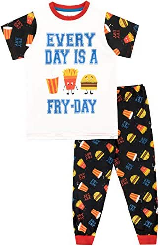 Harry Bear Boys' Pajamas Every Day is A Fry-Day