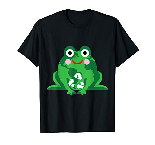 Green Frog Recycle Circle Save Planet Happy Earth Day Shirt
