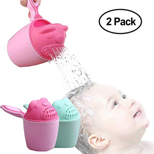 Bluexury Baby Bath Toys - Eco Friendly Bath Shampoo Rise Cup - Cup Cartoon Bath Shower Washing Head - Water Swimming Bailer for Children Toddlers Girls Boys (Style1) by Bluexury