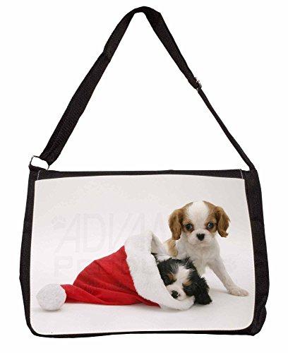 Christmas Sentiment Dog Large 16 Black School Laptop Shoulder Bag vXtzU8Eg