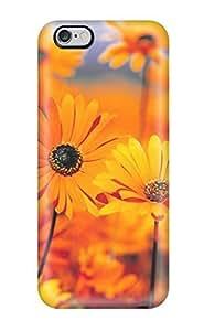 Perfect Fit PdiGOrf506FFtxX Orange Flowers Case For Iphone - 6 Plus