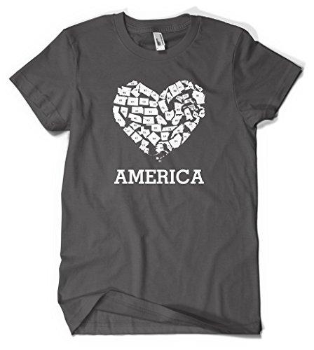 Ptshirt.com-19406-Love America Men\'s T-shirt-B01GGWSTUS-T Shirt Design
