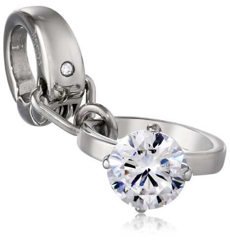 Fossil Stainless Steel Engagement Ring Charm