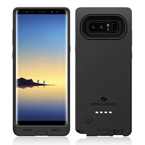 Galaxy Note 8 Battery Charger Case, ZeroLemon Ultra Power 10000mAh Extended Charging Case Portable Battery Case Samsung Galaxy Note 8 - Black