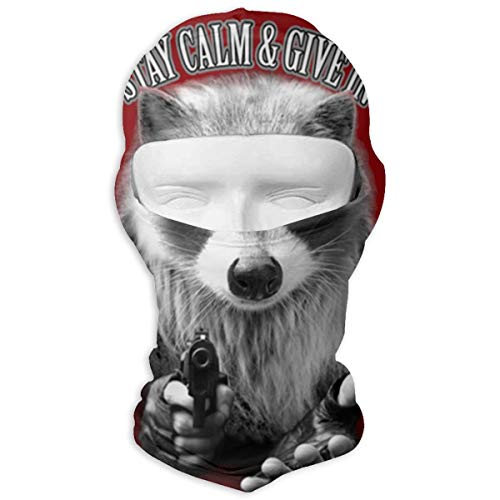 Ski Cap Keep Calm & GIVE in Full Face Mask Wind-Resistant Face Mask ()