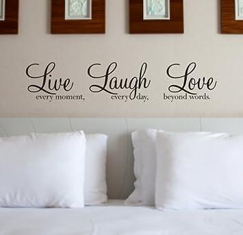 High Quality Wall Art Quote Sticker   U0027Live Laugh Loveu0027 WA088X   BLACK Part 25
