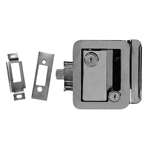 Chrome Paddle (Chrome RV Paddle Entry Door Handle | RV Paddle Door Latch | With Deadbolt)