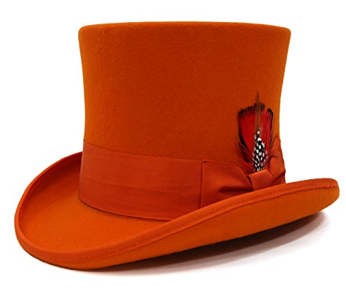 L - Ferrecci Premium Orange Top Hat