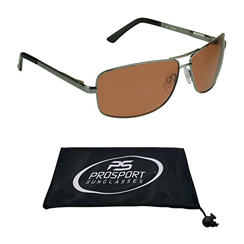 Polarized Aviator Sunglasses with premium TAC Polarized High Definition HD lenses and durable high nickel metal frames. Free Microfiber Cleaning Case ()