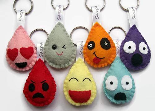 Sazzles Emoji Style Handmade Keyring